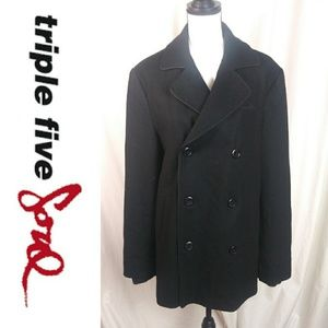 Triple Soul Five Medium, Wool Black Coat